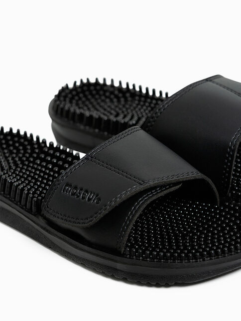 Maseur Invigorating Massage Sandal Black Size 11