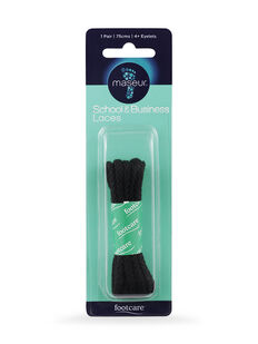 School & Business Laces Black 75cm, 1 pair