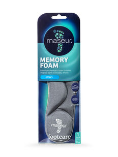 Men's Memory Foam Insoles, 1 pair