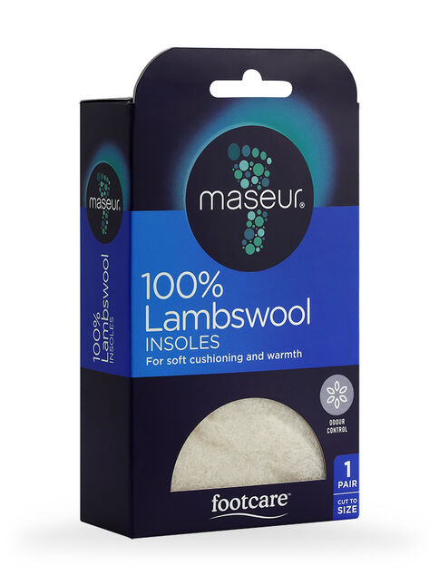 Lambswool Insoles, 1 pair