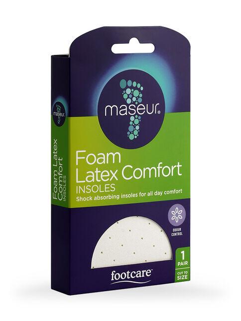 Foam Latex Comfort Insoles, 1 pair