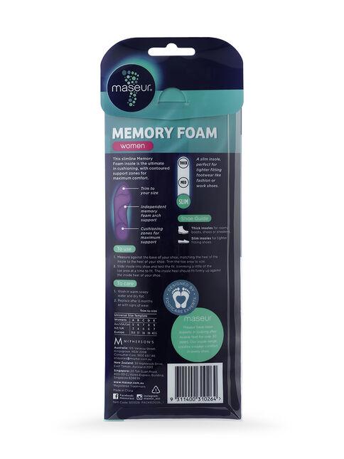 Women's Memory Foam Insoles, 1 pair