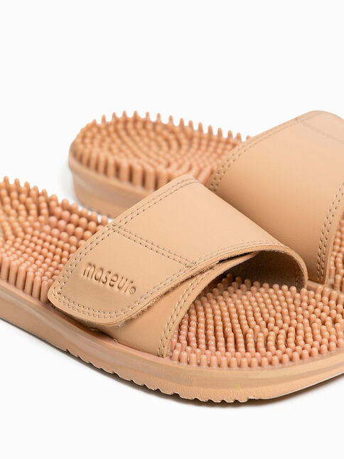 Maseur Invigorating Massage Sandal Beige Size 10