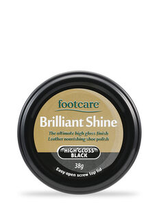 Brilliant Shine Shoe Polish High Gloss Black 38g